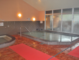 開放感のある広いお風呂場